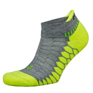 Silver No Show: Mid Grey / Neon Lime
